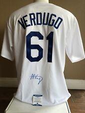 Alex Verdugo Hand Signed Autographed Jersey LA Dodgers Beckett COA Size XL