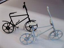 Metall-Dekomodell Fahrrad 10x6 cm weiß/schwarz