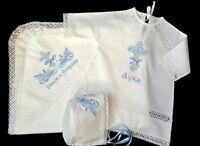 Taufkleid für orthodoxe Taufe, крестильный набор, крестильная рубашка, полотенцe