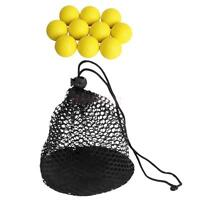 10pcs PU Golf Balls Soft Foam Golf Practice Ball with Mesh Nets 50 Balls Bag
