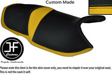 BLACK AND YELLOW VINYL CUSTOM FITS CAN AM SPYDER ST RS DUAL SEAT COVER ONLY