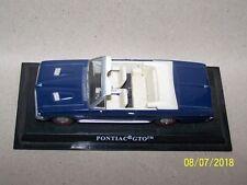 Pontiac GTO ~ Dark blue car  ~ Black plinth ~ 10.5cms