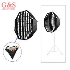 120cm/47in Umbrella Octagon Softbox with Grid For SpeedLight Flash Studio Strobe