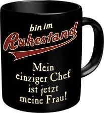 Geschenk Tasse Kaffeebecher Mug - Ruhestand Frau
