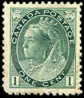 Canada #75 mint VF OG NH 1898 Queen Victoria 1c grey green Numeral CV$240.00