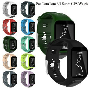 Silicone Wristband Band Strap Replacements ForTomTom Runner 2 3 Spark 3 Golfer 2