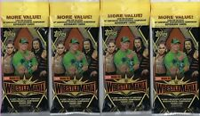 (4) 2019 Topps WWE Road to Wrestlemania Wrestling Cards Retail 21c Fat Pack Lot