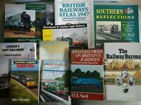 Railway Books Assorted Joblot Rail Trains Steam Locomotives