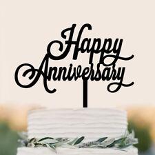 Felice anniversario lettera Cake Topper acrilico Xmas Party Cake Decorat PQ