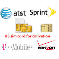 US Activation sim card Verizon T-Mobile AT&T Sprint for iPhone 5 5S 6 6S 7 8 X +