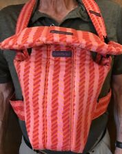Baby Bjorn Infant Front Carrier Bright Orange & Pink Lightly Used