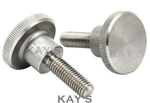 KNURLED THUMB SCREWS A1 STAINLESS STEEL HAND GRIP KNOB BOLTS M3 M4 M5 M6 M8 M10