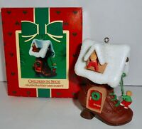 Hallmark Keepsake Christmas Ornament 1985 CHILDREN IN SHOE Once Upon A Time   H9