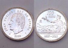100 Pesetas 2001 Plata Silver Moneda FDC España Ultima Edicion Peseta,  Leer!!!!