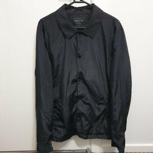 River Island Black Coach Jacket Mens Size Large