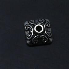 15 Pcs Tibetan Silver bali style square Findings Bead Caps TA1395
