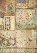 Rice Paper for Decoupage Scrapbook Craft Sheet Branch & Writing