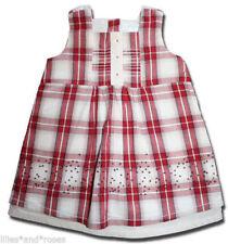 Gorgeous PURE BABY 00 Woven Poppy Check Dress ORGANIC COTTON