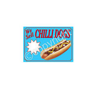CHILLI DOG STICKER for catering trailer
