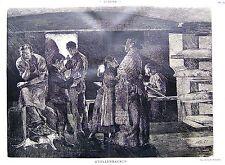 Max Bernuth Weihnachtliches Stollenbacken Originaldruck Münchner Jugend 1898