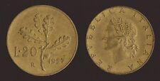 20 LIRE 1957 RAMO DI QUERCIA - ITALIA