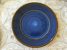 Ceramic Round Plate by Country Originals - Blue Large