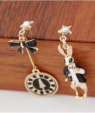 E921 BETSEY JOHNSON Rush Peter Rabbit Clock Alice In Wonderland Earrings AU