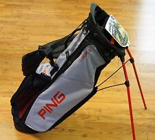 2017 PING Golf 4 Series Lightweight Dual Strap Stand Bag Light Gray Red - NEW!