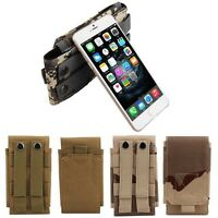 Camo Army Bag Belt Loop Hook Cover Case Pouch Holster For Mobile Phone Universal