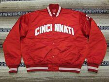 VTG 80s 90s Starter MLB Cincinnati Reds Nylon Satin Jacket Red X-Large USA (A89