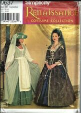 Renaissance Gown Dress Pattern Theater Costumes Andrea Schewe Sewing 0637 New
