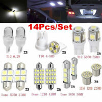 14Pcs Car LED Interior Package Kit For T10 36mm Map Dome License Plate Lights