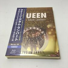 QUEEN ADAM LAMBERT LIVE IN JAPAN 2014 JAPAN CD+BLU-RAY W/OBI 4500set First Press