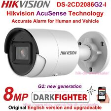 Hikvision AcuSense 4K Darkfighter DS-2CD2086G2-I 8MP IP Bullet Camera PoE IP67