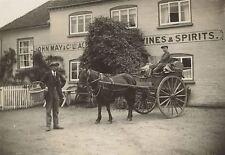 John May & Co. Ltd. Pub. Horse & Cart Delivery Man & Basket -Reading. Photograph