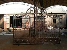 BEAUTIFUL HAND MADE SOLID IRON ESTATE DRIVEWAY GATES WITH WALK THROUGH GATE- KF1