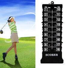 Neu 18 Loch Golf Score Card Zähler Counter Scoretafel Schlagzähler·