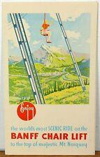 1940's - 50's Banff Chair Lift Mt. Norquay Alberta Canada brochure b