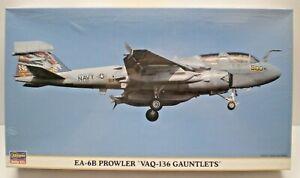HASAGAWA EA-6B PROWLER VAQ-136 GAUNTLETS 1:72 scale Factory sealed kit # 738