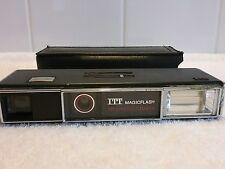De Colección cámara con teleobjetivo ITT magicflash y caso Repuestos O Reparaciones