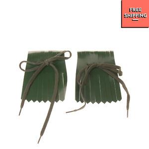 RRP €135 MARNI Leather Detachable Fringe Trim Drawcord Self Tie Closure