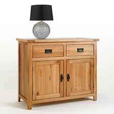 Rustic Oak Sideboard | Small Light Oak Sideboard | Solid Oak Furniture CB05
