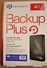 Seagate 4TB Backup Plus Portable External Hard Drive USB 3.0 STDR4000100 Blk NEW