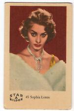 1960s Swedish Film Star Card Star Bilder A #45 Italian Actress Sophia Loren