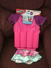 NEW SWIM WAYS GIRLS FLOAT SHORTY FLOTATION SUIT SWIMWEAR SKIRT BOTTOM AGES 3-4