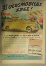 Oldsmobile Car Ad: 31 Oldsmobiles Free! from 1939 Size: 11 x 15 inches