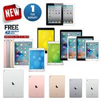 Apple iPad 2,3,4,Air,mini,Pro 9.7/12.9 32GB/64GB/128GB/256GB 1-Year Warranty