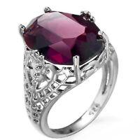 Anello Donne di moda 925 argento anello di fidanzamento gioielli Gemma ametista