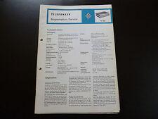 Original Service Manual Telefunken M 401