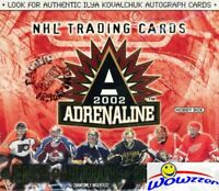 2001/02 Pacific Hockey Adrenaline Hockey HUGE Factory Sealed HOBBY Box-2 JERSEY